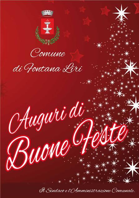 Buon Natale E Buone Feste Natalizie.Buon Natale E Buone Feste Dal Comune Di Fontana Liri Pd Di Fontana