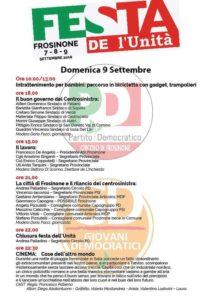 Domenica 9 - Festa de l'Unità Circolo di Frosinone