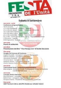 Sabato 8 Festa de l'Unità Frosinone