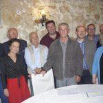 Il segretario provinciale Costanzo con i membri del direttivo